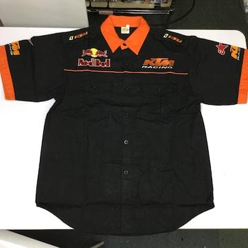 ワークシャツ XLサイズ KTM RACING レッドブル ピットシャツ