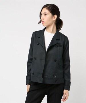 新品☆MARY QUANT(マリークワント)刺繍ロゴ ダブルジャケット☆