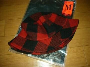 新品テンダーロインTENDERLOINバッファローチェックハットM赤黒