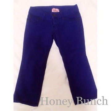 HoneyBunchハニーバンチ バックウィング刺繍カラーパンツ Blue