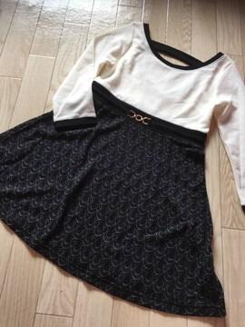 B648/セシルマクビー/ホワイト×ブラック/長袖/トップス/