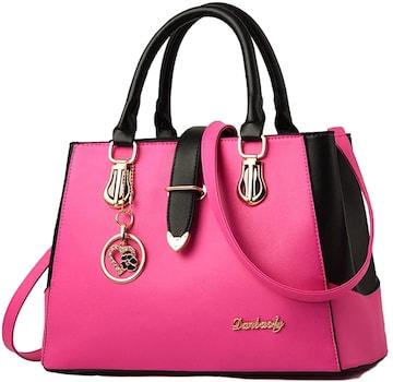 特別提供価格★2way ハート チャーム付ハンドバッグ ピンク