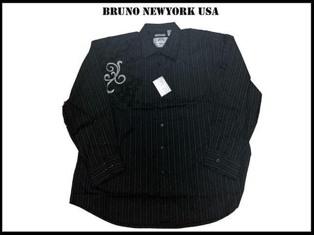 ビッグサイズシャツ【黒色-4XLB】 Bruno Newyork  4XB  < 男性ファッションの