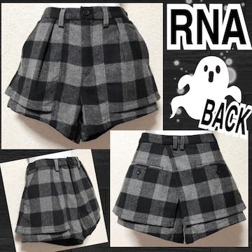 【新品/RNA】フラップ付ブロックチェック柄ショーパン