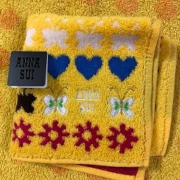 アナスイ タオルハンカチ yバタフライ刺繍