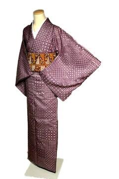 【最高級】新品同様 染紬 手刺繍 総柄小紋模様 付下げ T2061