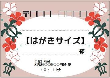 ★サ)はがきサイズ★宛名シール★ホヌP8枚