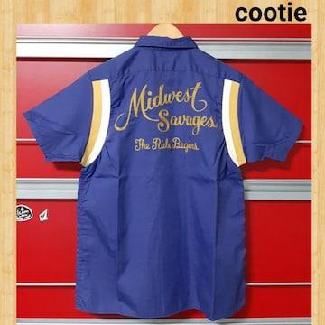 購入16590円 cootie Bowling Shirt ボーリングシャツ S ネイビー