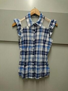 Ank Rouge☆チェック柄ノースリーブシャツ