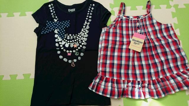 120女の子オシュコシュ新品チュニック&リボンTシャツ  < ブランドの
