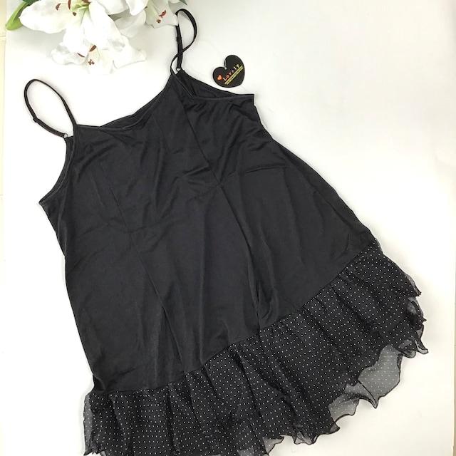 M〜Lサイズ☆授乳用スリップ♪ブラック < 女性ファッションの