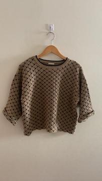 GU ジーユー 七分袖 オーバーサイズニット セーター M