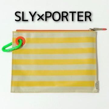 レア SLY×PORTERコラボ ボーダーポーチ