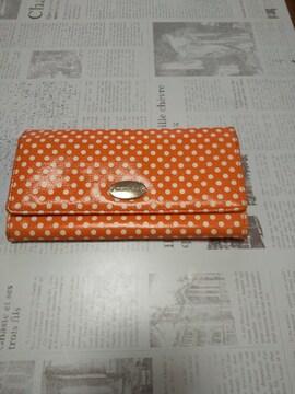 オレンジドット長財布