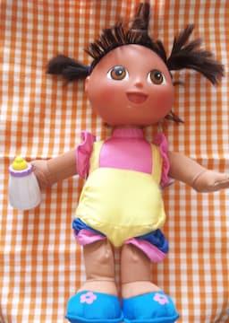 ドーラ音が鳴るぬいぐるみ抱き人形お世話ドール難有りマテル社2004年