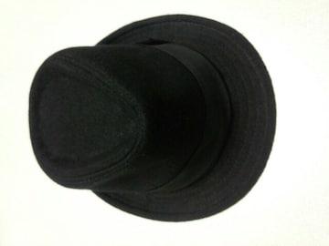 真っ黒のハット★帽子★フリーサイズ(*^o^*)