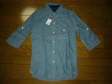 新品GIGNIジージニ7分丈シャンブレーシャツ2デニム上野商会