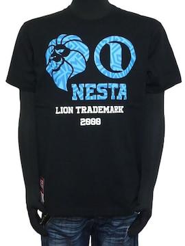 新品192NB1001ネスタ カラーサークルTシャツ黒M