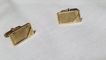 正規 ダンヒル dロゴヴィンテージカフス金 ゴールドスクエアボタン オールドカフリンクス メッシュ