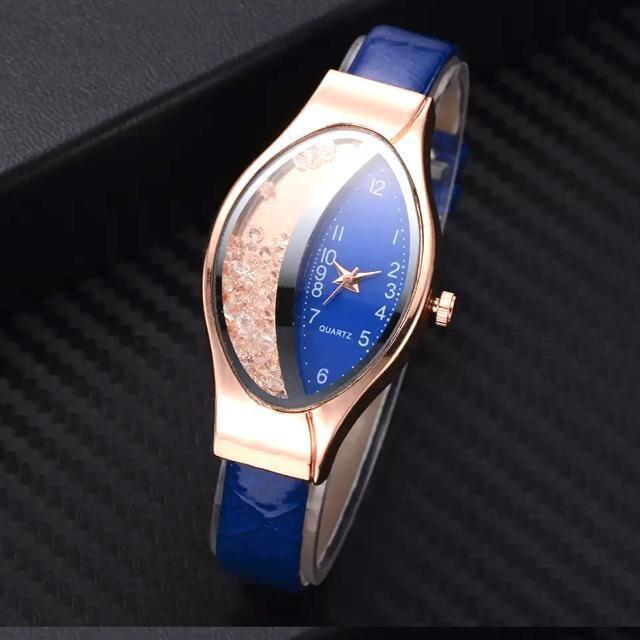【特A品】ダイアモンド ブルー バンド 腕時計 新品