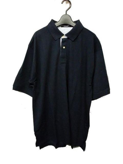 セール新品送込おしゃれポロシャツ2XLネイビー★ビッグシルエット★シンプルストリート  < 男性ファッションの