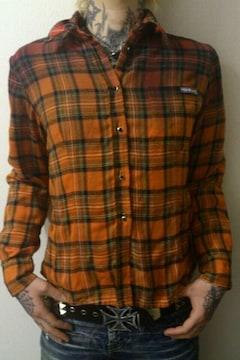 即決トライブワークススリーコードリバーシブルネルシャツ!パンクロックグランジニルバーナカート