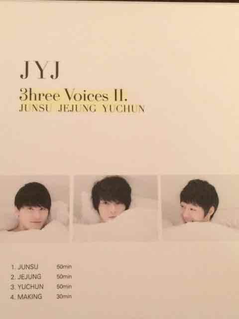 激安!激レア!☆JYJ/3hreeVoices�U☆初回限定盤/DVD2枚組☆超美品 < タレントグッズの
