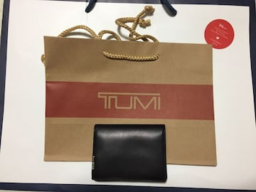 TUMI GUSSETED CARD CASEトゥミ 黒 名刺入れ