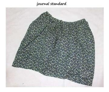 ジャーナルスタンダード*journal standard★綿ローン小花プリントミニスカート/新品