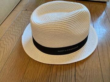 モエエジャンドン非売品ブレスレットとストローハット帽子
