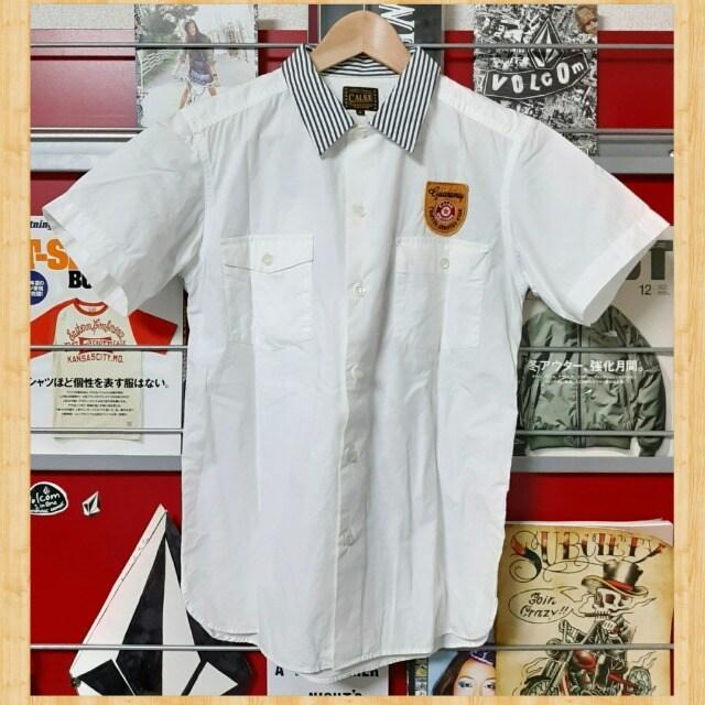 購入16800円 CALEE OLD WORK SHIRT ワークシャツ S バイカー < ブランドの