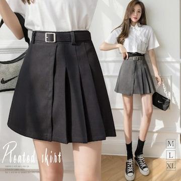 ハイウエスト Aライン ミニスカート ショート丈 台形スカート