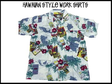 新品 アロハ・ハワイアンスタイル S/S半袖シャツ (XL)#210