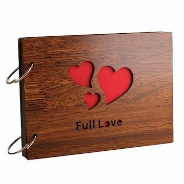 木製 フォトアルバム Full Love 1/B3P