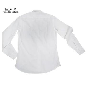 ルシアンペラフィネメンズスカル刺繍長袖シャツXS白lucien p