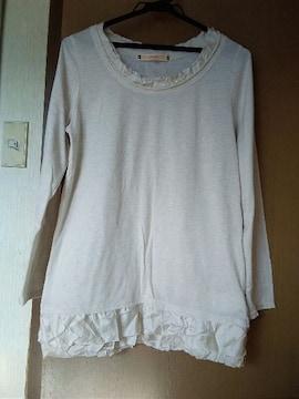 裾フリルTシャツL