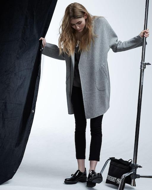 定価12万 rag&bone ラグ&ボーン ウール ダブルフェイス リバーシブル シンガー コート  < 女性ファッションの