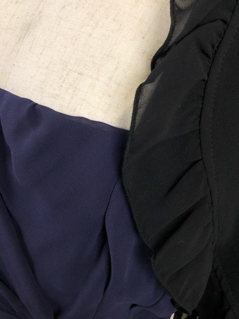 新品☆17号♪長め丈裾シフォンパーティーワンピース♪mm211 < 女性ファッションの