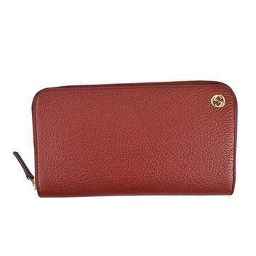 ◆新品本物◆グッチ インターロッキングGG 長財布(RED)『449347』◆