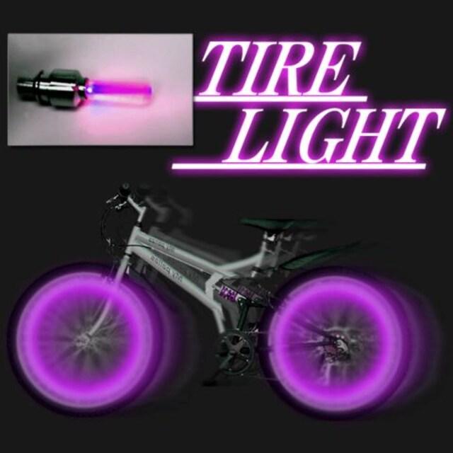 LEDホイールライト紫 2個1組 激安出品!! < 自動車/バイク