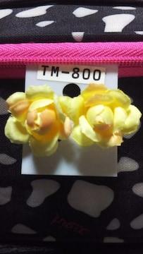 新品 可愛い黄色い花ピアス