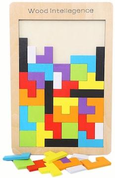 木製テトリスパズル ジグソーパズル 知育玩具 おもちゃ