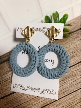 ...handmade earring/春夏/ラタン...