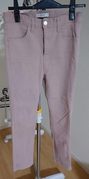 カラースキニーパンツ  くすみ ピンク