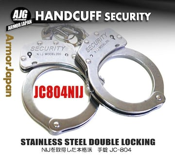 手錠 高強度 ステンレス チェーン JC-804 シルバー ハンドカフ ポリス 警察 コスプレ