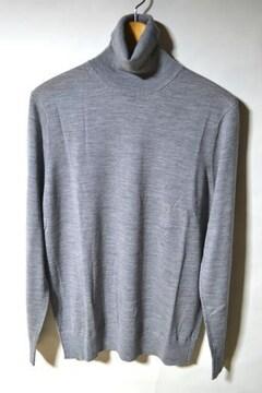 新品 ユニクロ タートルネックセーター グレー L メンズ 今季