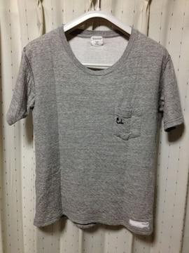 ロットワイラー ポケット 無地半袖Tシャツ Sサイズ グレー 日本製 ワコマリア ジバンシィ