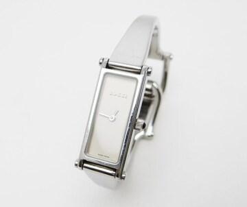 グッチ クオーツ レディース時計 バングルウォッチ SS×ホワイト系文字盤【送料無料】