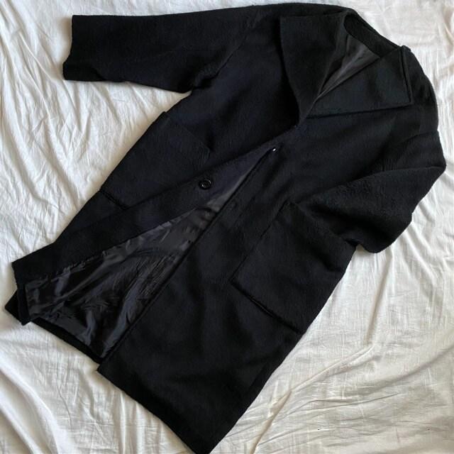 ロングコートM/ Black < 女性ファッションの