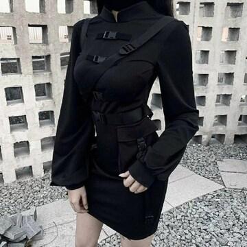フリーサイズ ベルトワンピース ロリータ ファッション